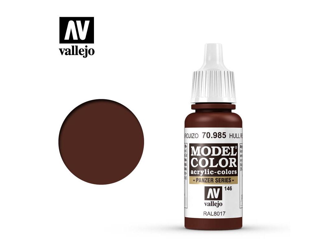Farbe Vallejo Model Color 70985 Hull Red (17ml)