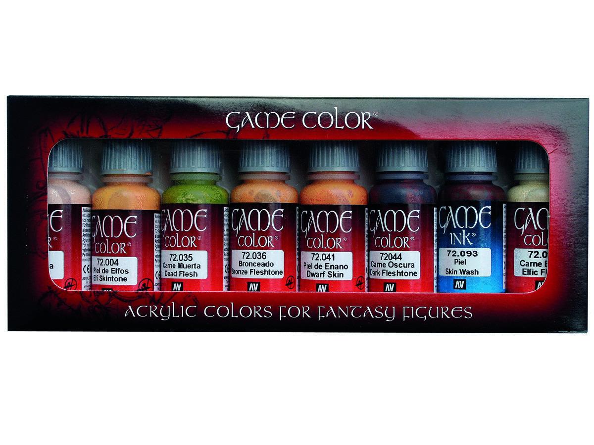 Vallejo Game Color Set 72295 Skin Tones (8)