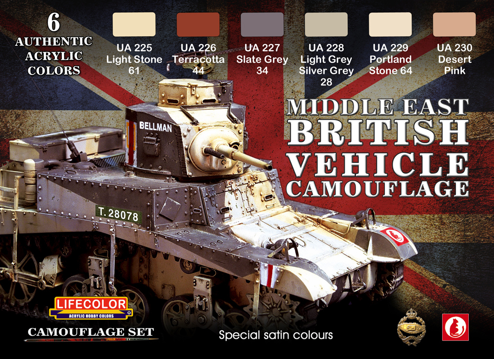 Tarnfarben Set LifeColor CS16 MIDDLE EAST BRITISH VEHICLE CAMOUFLAGE
