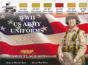Tarnfarben Set LifeColor CS18 WWII US ARMY UNIFORMS SET2 Combat Gear