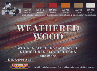 Diorama Farben Set LifeColor CS20 WEATHERED WOOD