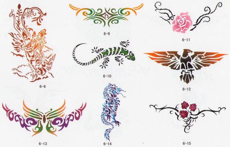 Airbrush Tattoo-Schablonen - Buch 06 - Airbrush Fengda®