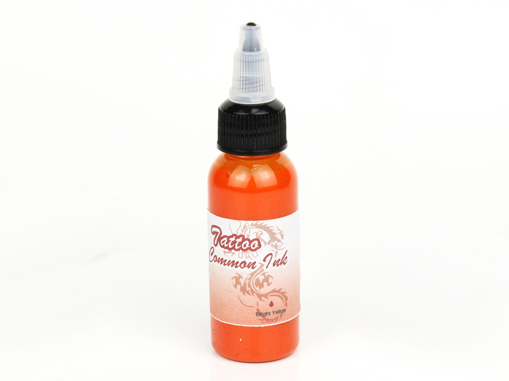 Airbrush Tatoo Farbe Fengda bright yellow 100ml