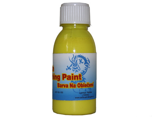 Airbrush Stofffarbe Fengda lemon yellow 100 ml