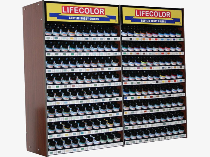 Leerdisplay (Regal) für 22ml LifeColor Flaschen