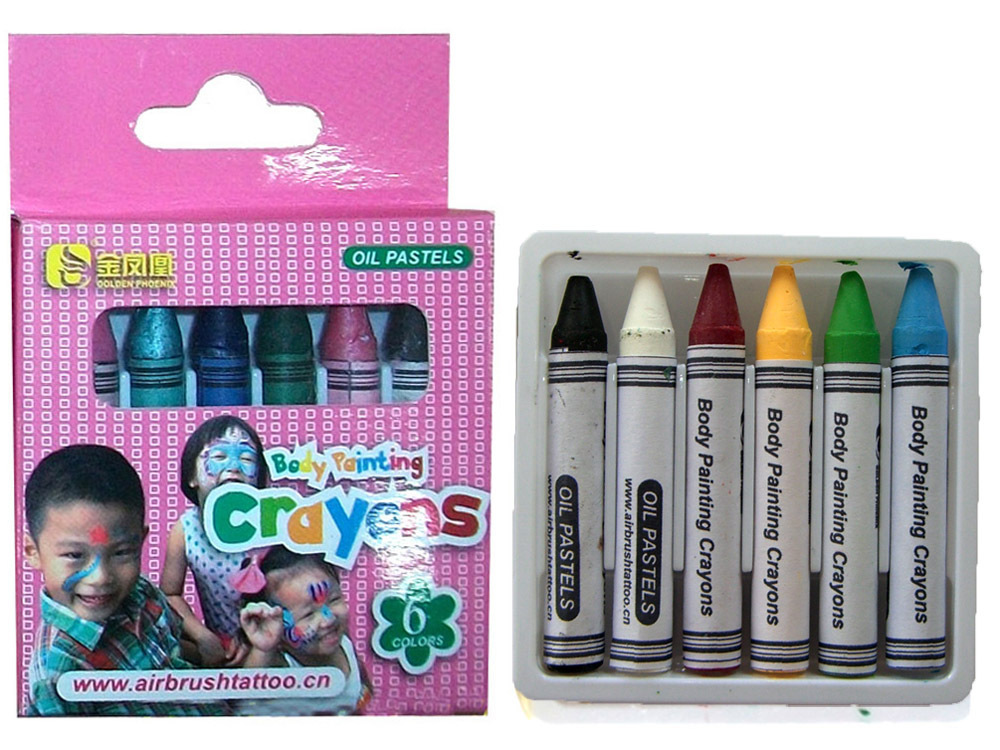 Bodypainting Crayons 6pcs/set