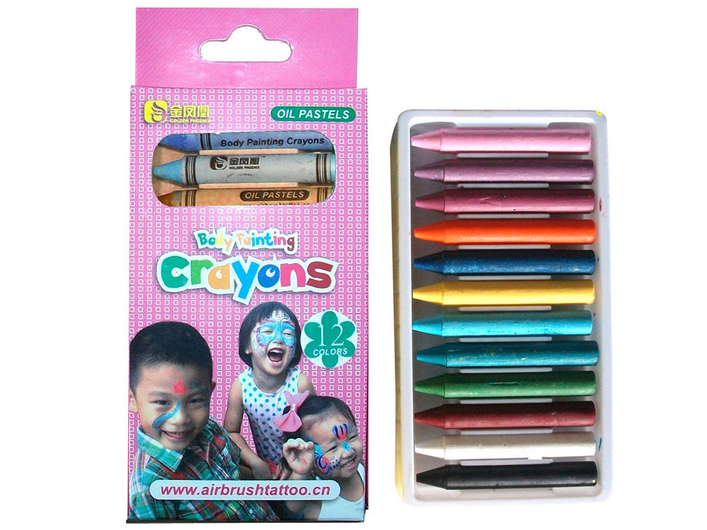 Bodypainting Crayons 12pcs/set  (pink box)