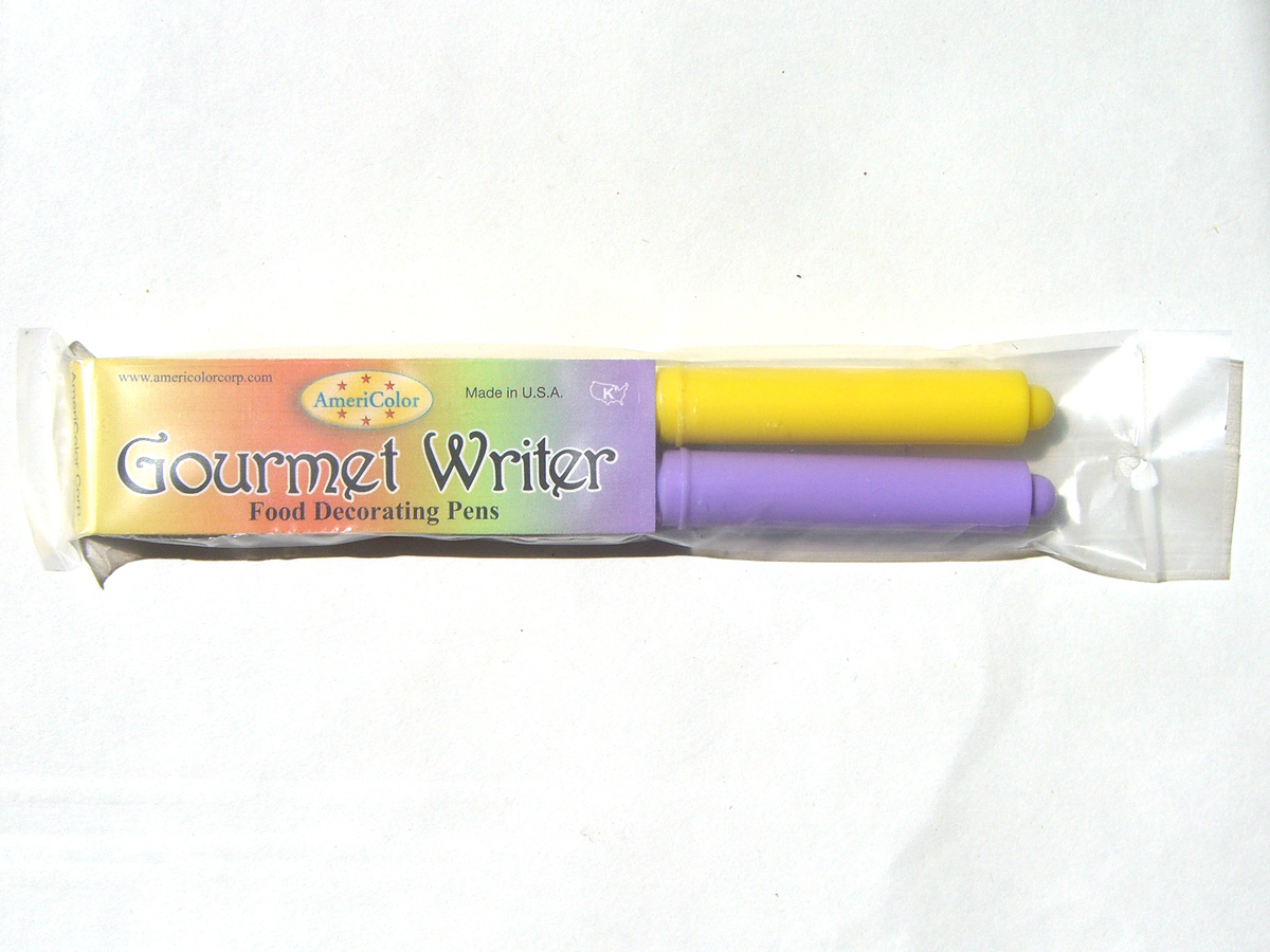 AmeriColor 2x GOURMET WRITERS Food Pen (Easter set) - Purple+Yellow