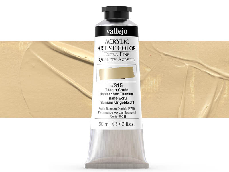 Farbe Vallejo Acrylic Artist Color 16315 Umbleached Titanium (60ml)