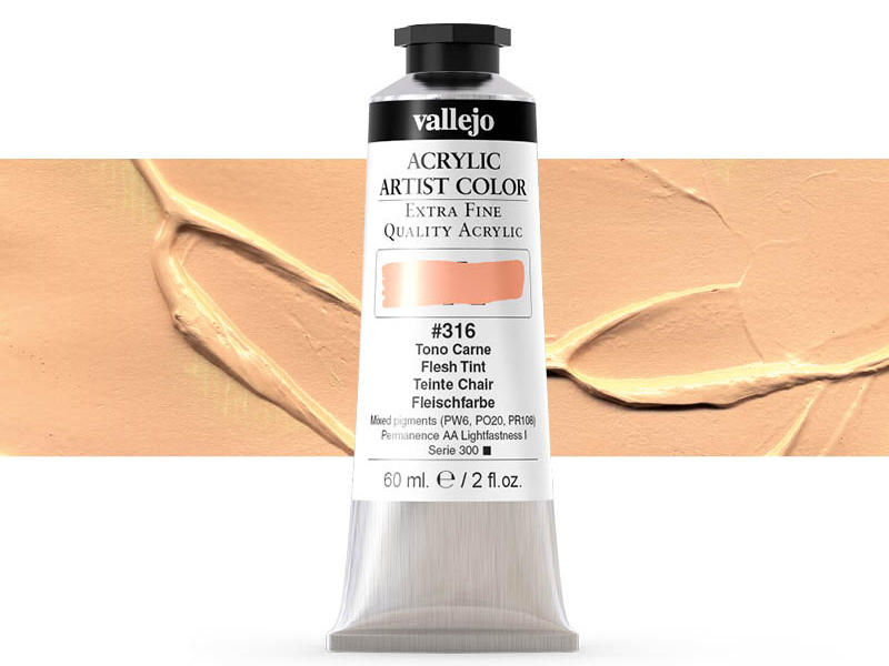 Farbe Vallejo Acrylic Artist Color 16316 Flesh Tint (60ml)