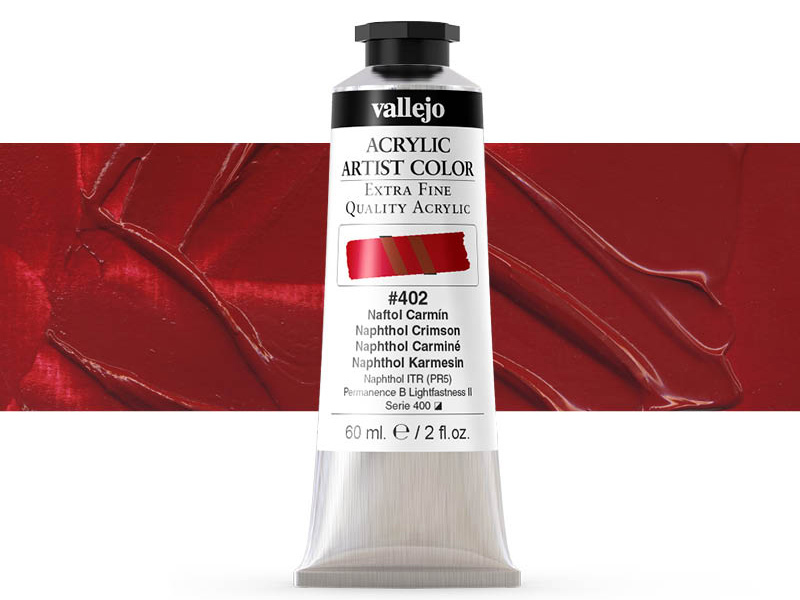 Farbe Vallejo Acrylic Artist Color 16402 Naphthol Crimson (60ml)