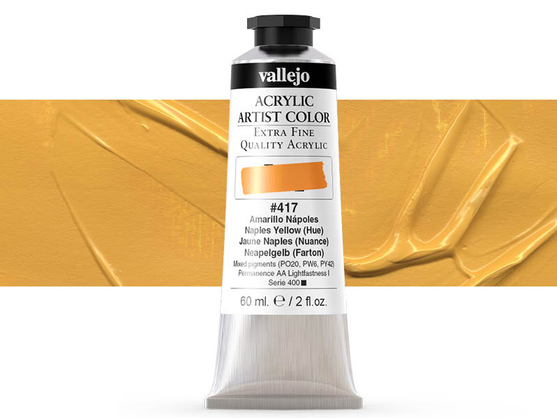 Farbe Vallejo Acrylic Artist Color 16417 Naples Yellow (Hue) (60ml)