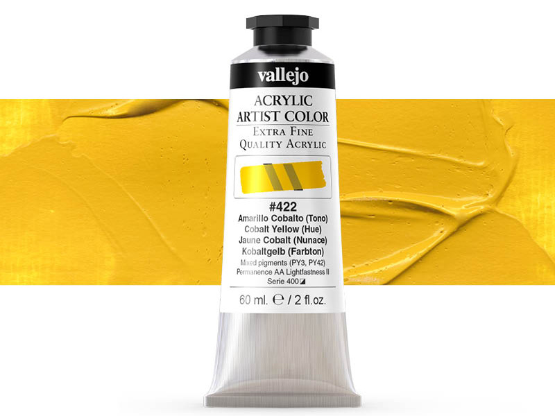 Farbe Vallejo Acrylic Artist Color 16422 Cobalt Yellow (Hue) (60ml)