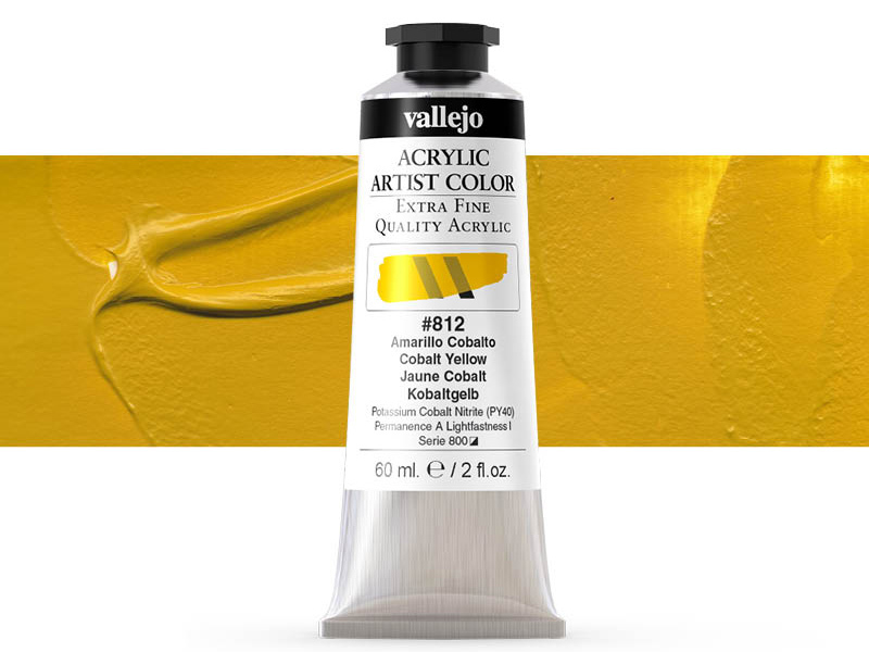 Farbe Vallejo Acrylic Artist Color 16812 Cobalt Yellow (60ml)