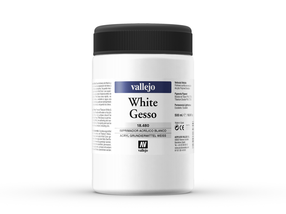 Vallejo 18480 White Gesso (500ml)