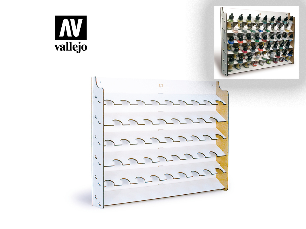Vallejo 26010 Wall Mounted Paint Display for 17 ml. bottles (display only)