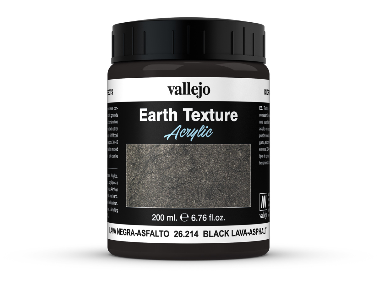 Vallejo Diorama Effects 26214 Black Lava-Asphalt (200ml)