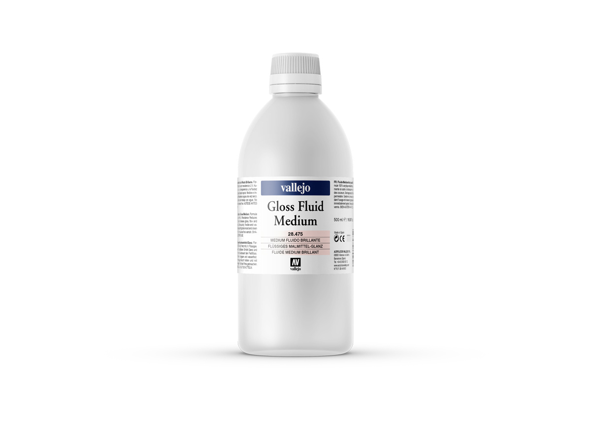 Vallejo 28475 Gloss Fluid Medium (500ml)