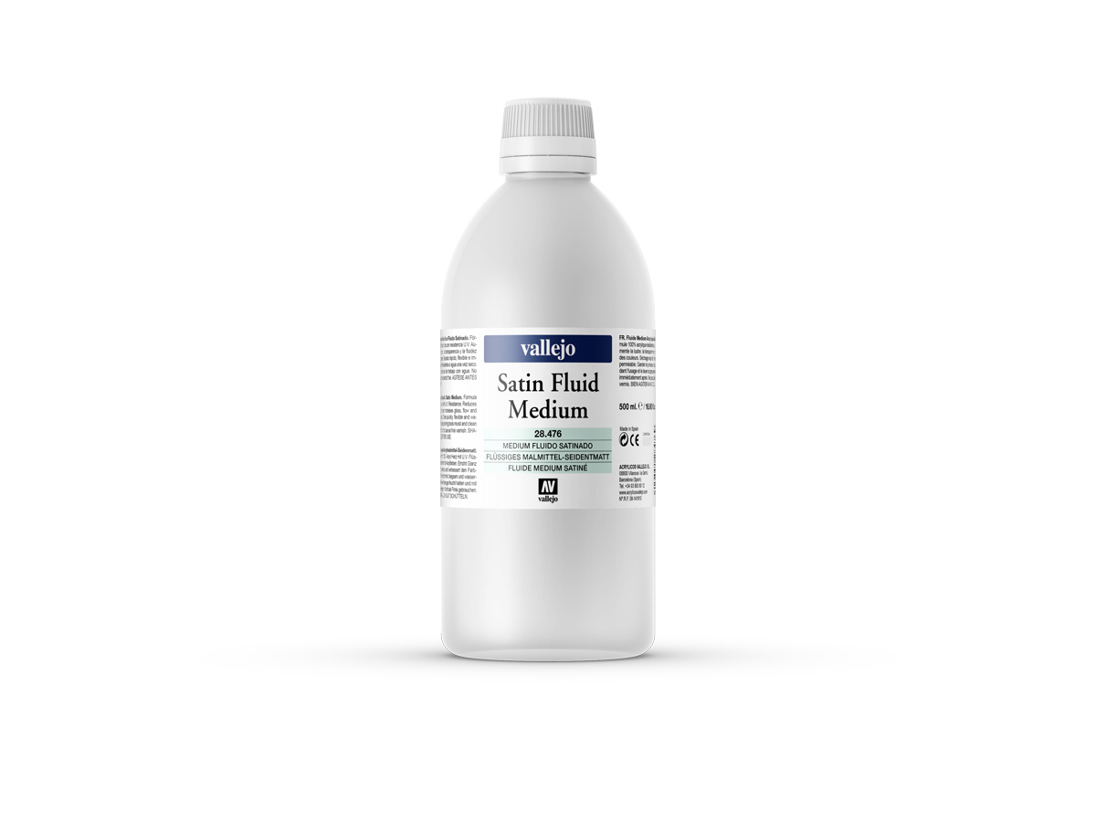 Vallejo 28476 Satin Fluid Medium (500ml)