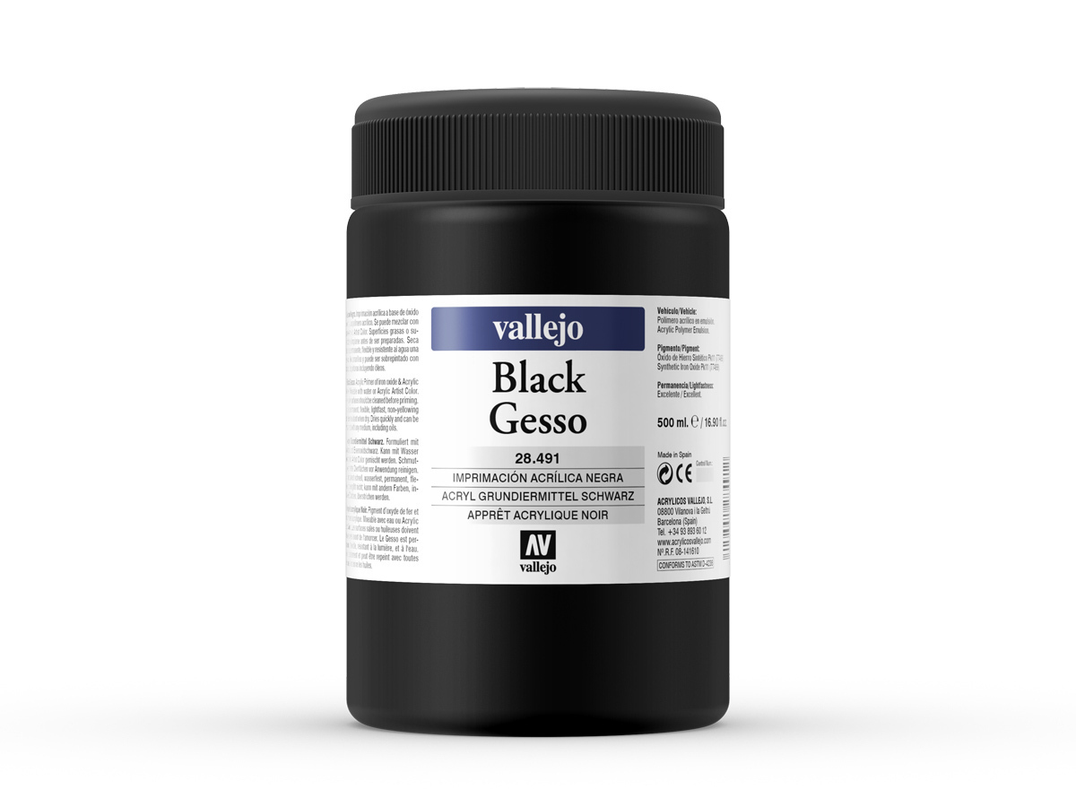 Vallejo 28491 Black Gesso (500ml)