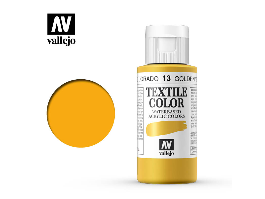 Textilfarbe Vallejo Textile Color 40013 Golden Yellow (60ml)