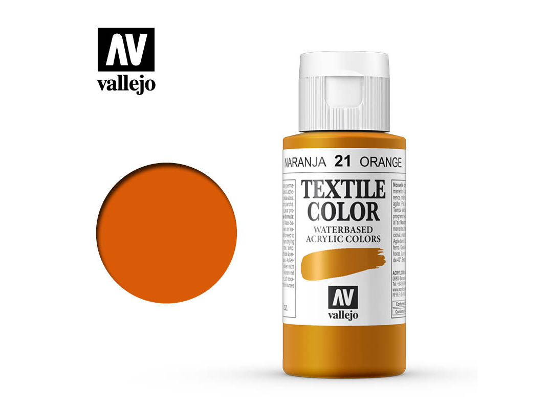 Textilfarbe Vallejo Textile Color 40021 Orange (60ml)