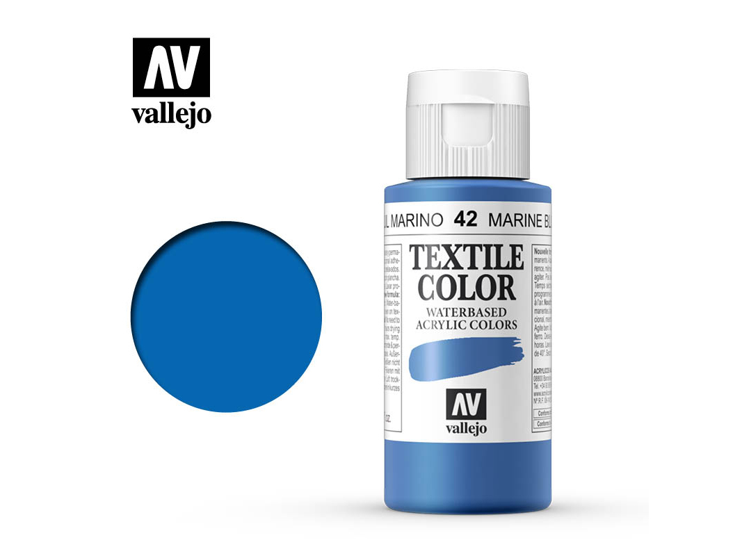 Textilfarbe Vallejo Textile Color 40042 Marine Blue (60ml)