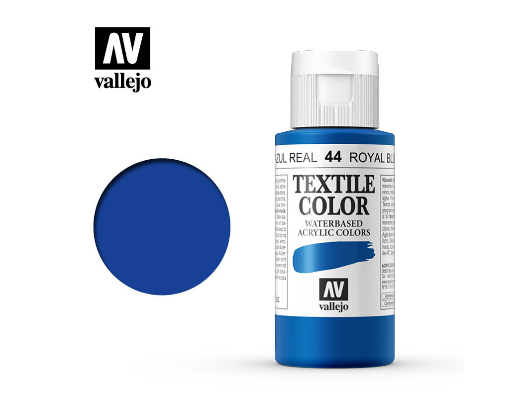Textilfarbe Vallejo Textile Color 40044 Royal Blue (60ml)