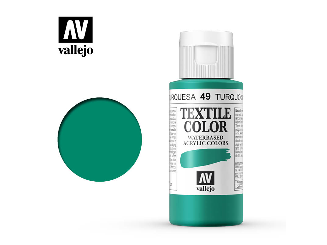 Textilfarbe Vallejo Textile Color 40049 Turquoise (60ml)