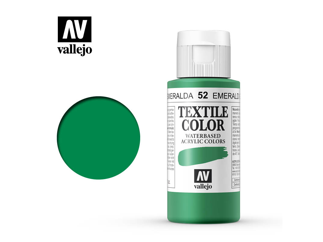 Textilfarbe Vallejo Textile Color 40052 Emerald Green (60ml)