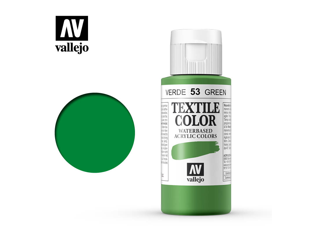 Textilfarbe Vallejo Textile Color 40053 Green (Opaque) (60ml)