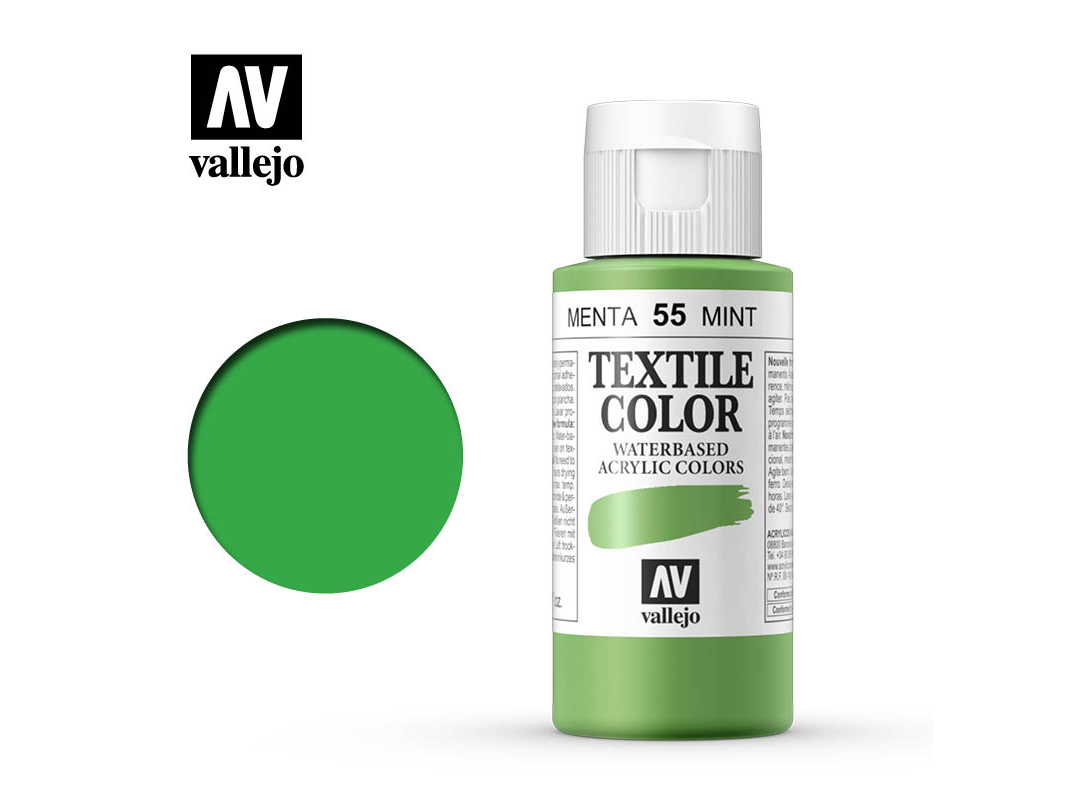 Textilfarbe Vallejo Textile Color 40055 Minth (Opaque) (60ml)
