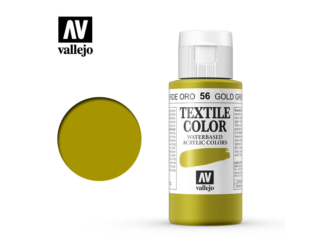 Textilfarbe Vallejo Textile Color 40056 Gold Green (60ml)