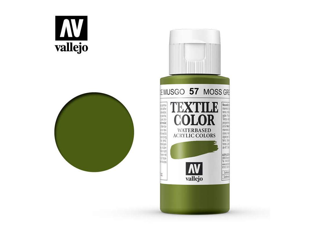 Textilfarbe Vallejo Textile Color 40057 Moss Green (Opq) (60ml)