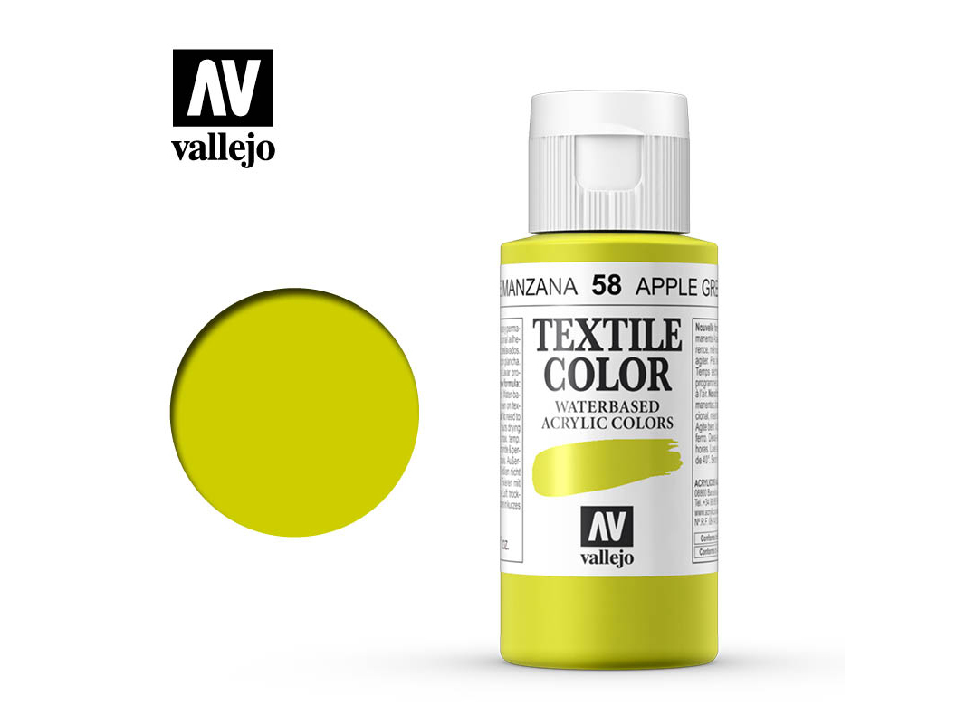 Textilfarbe Vallejo Textile Color 40058 Apple Green  (60ml)