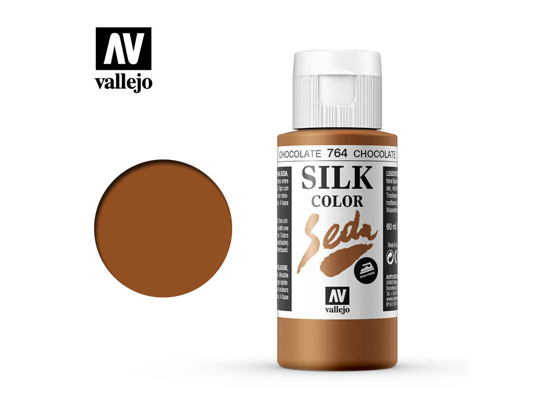 Seidenfarbe Vallejo Silk Color 43764 Chocolate (60ml)