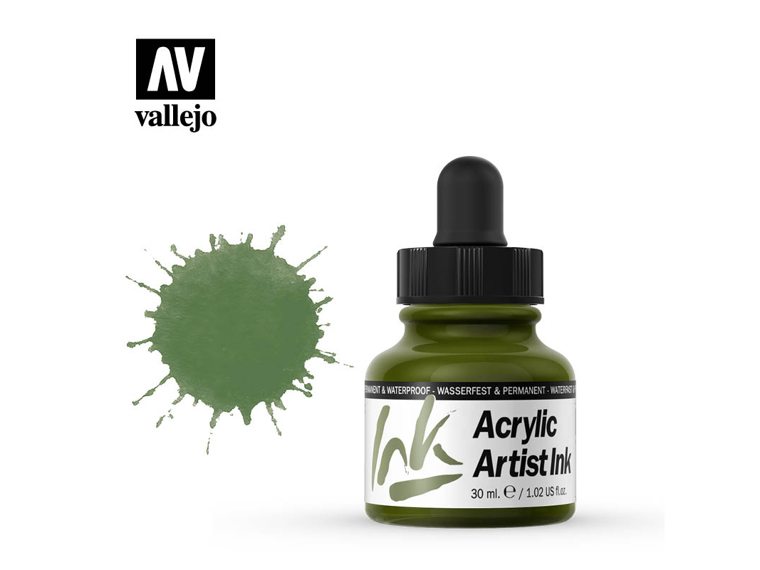 Tinte Vallejo Acrylic Artist Ink 60012 Green (30ml)