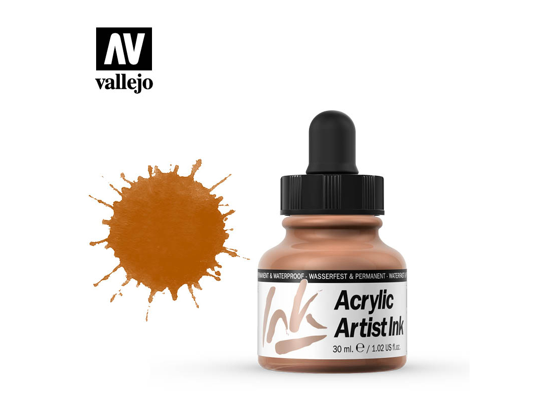 Tinte Vallejo Acrylic Artist Ink 60016 Raw Siena (30ml)
