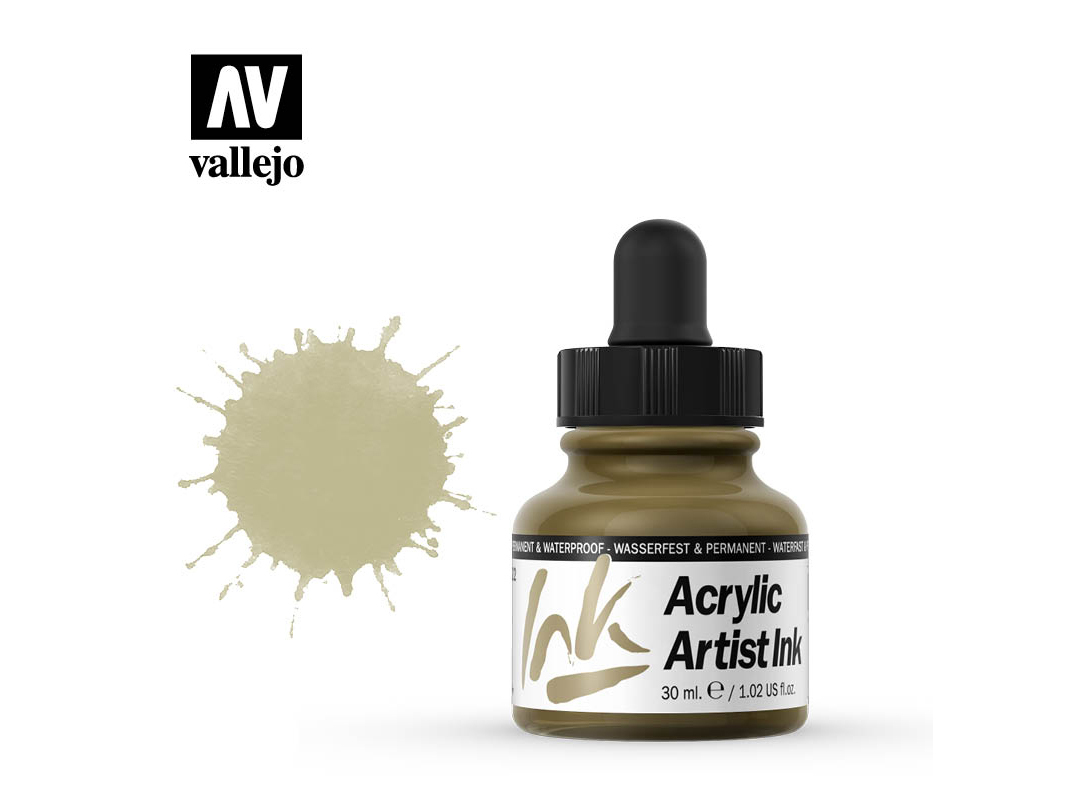 Tinte Vallejo Acrylic Artist Ink 60022 Metallics Gold (30ml)