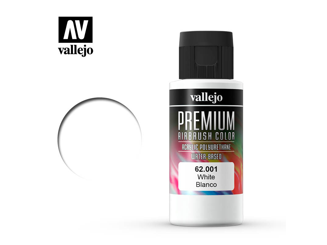 Farbe Vallejo PREMIUM Color 62001 White (60ml)