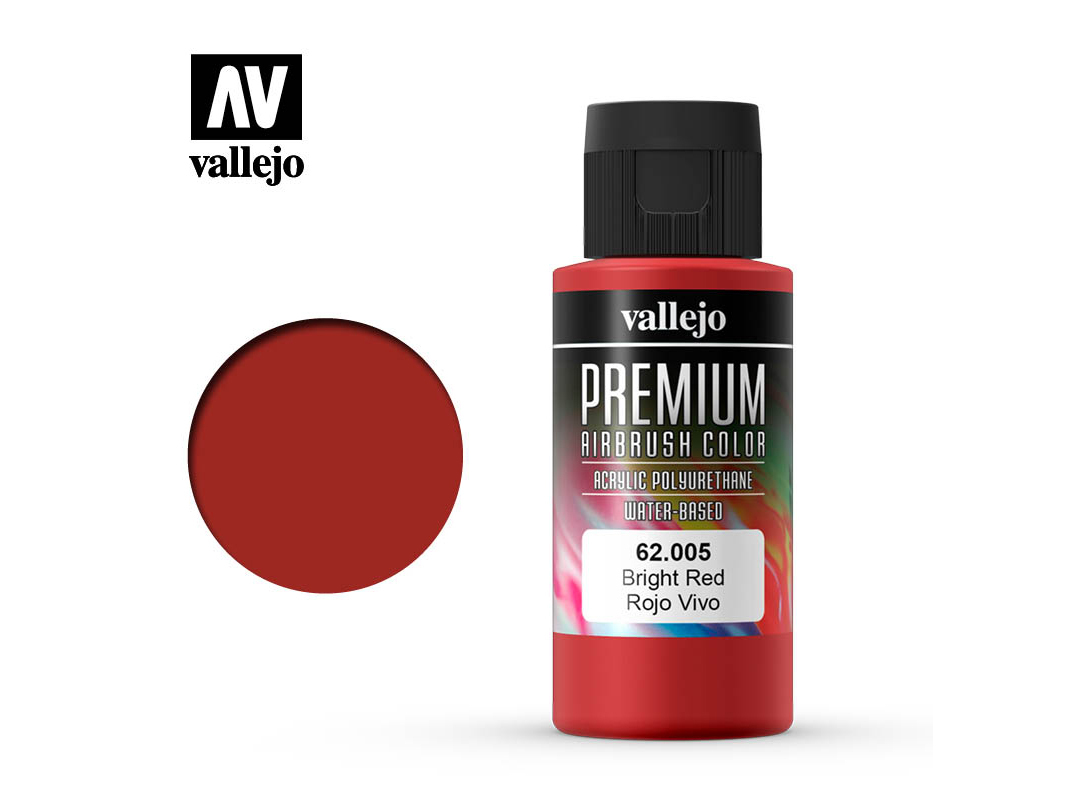 Farbe Vallejo PREMIUM Color 62005 Bright Red (60ml)
