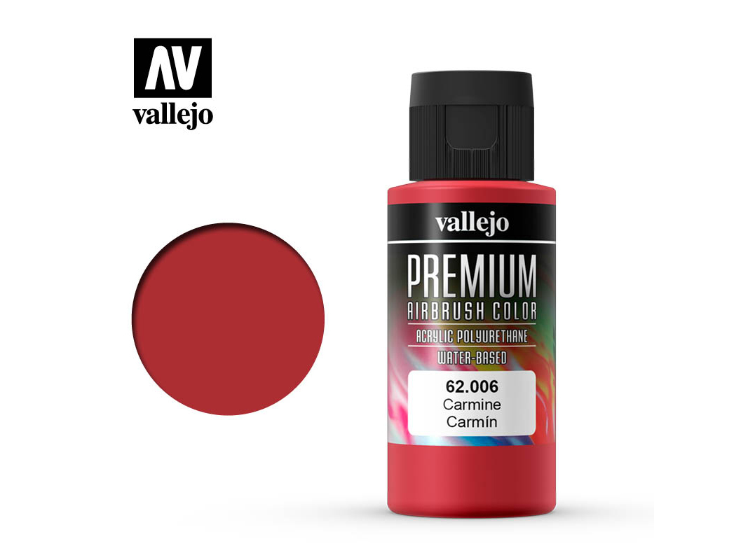 Farbe Vallejo PREMIUM Color 62006 Carmine (60ml)