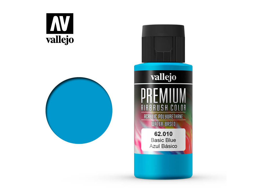 Farbe Vallejo PREMIUM Color 62010 Basic Blue (60ml)