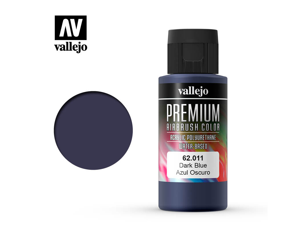 Farbe Vallejo PREMIUM Color 62011 Dark Blue (60ml)