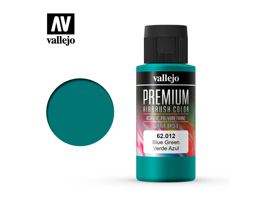 Farbe Vallejo PREMIUM Color 62012 Blue Green (60ml)