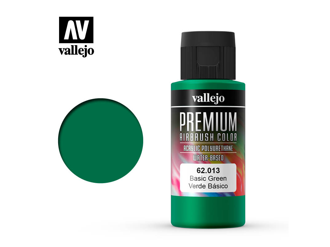 Farbe Vallejo PREMIUM Color 62013 Basic Green (60ml)