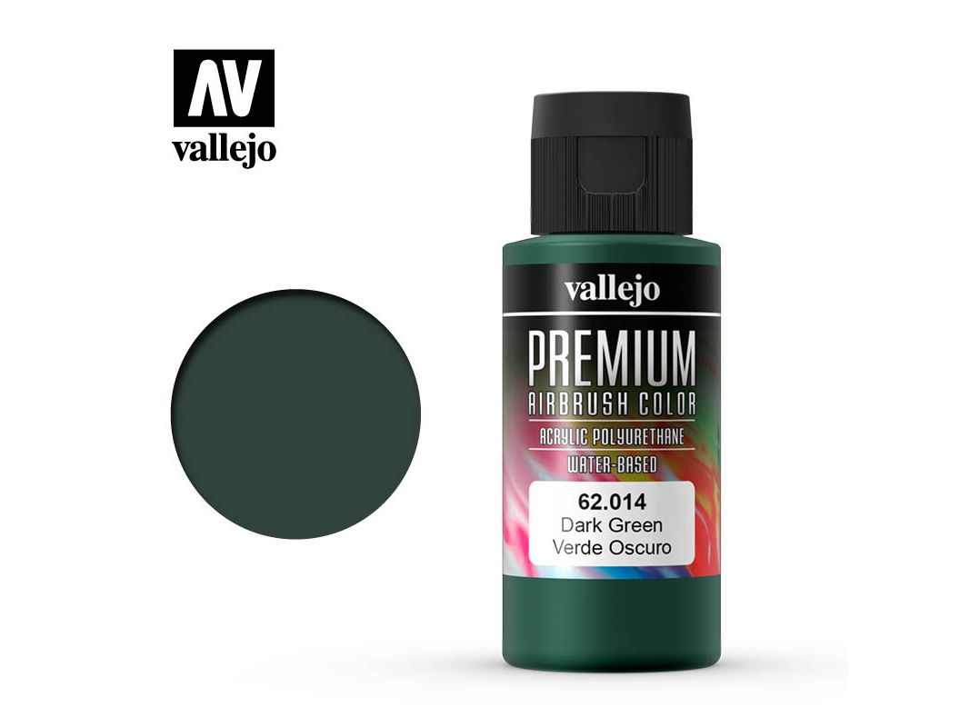 Farbe Vallejo PREMIUM Color 62014 Dark Green (60ml)