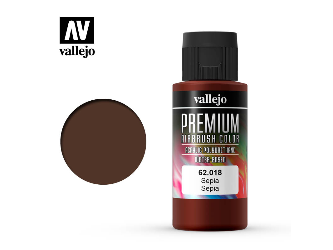 Farbe Vallejo PREMIUM Color 62018 Sepia (60ml)