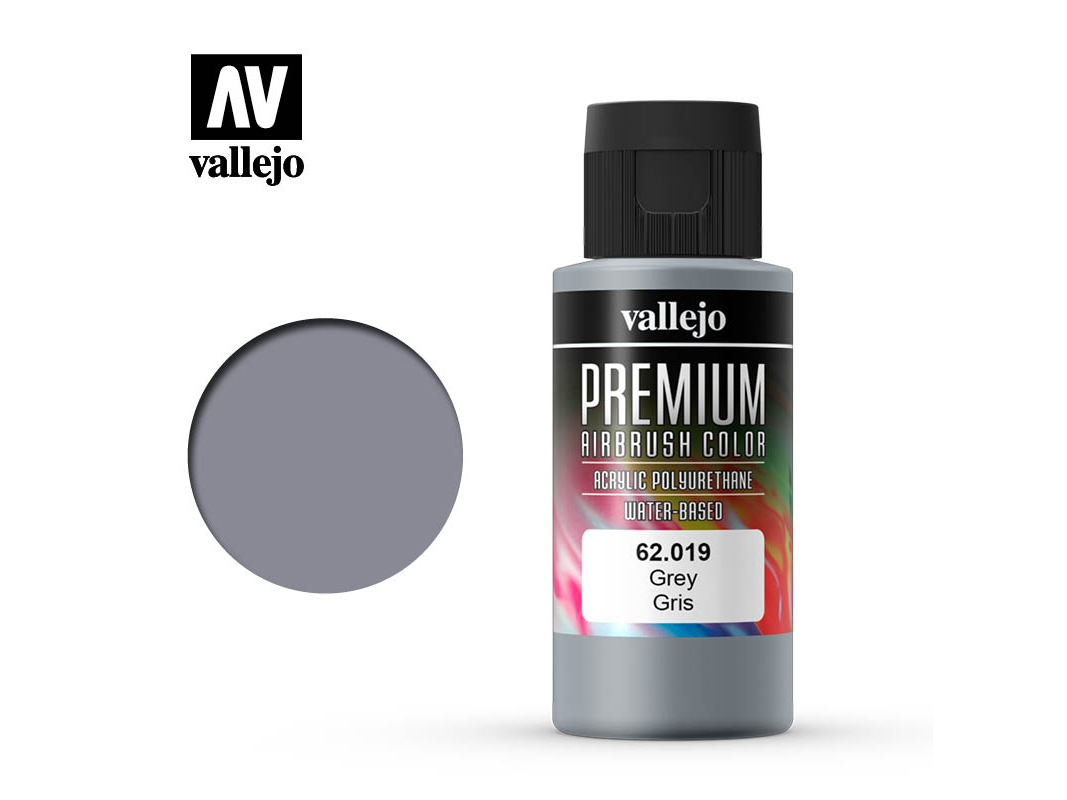 Farbe Vallejo PREMIUM Color 62019 Grey (60ml)