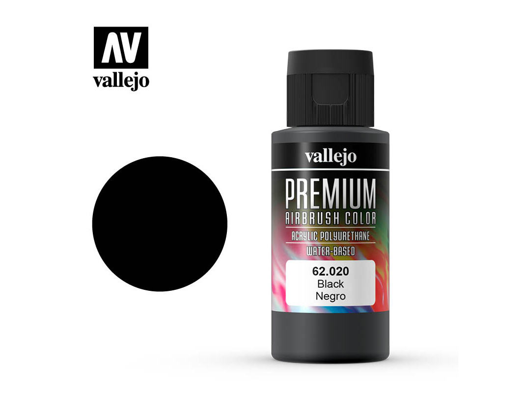 Farbe Vallejo PREMIUM Color 62020 Black (60ml)